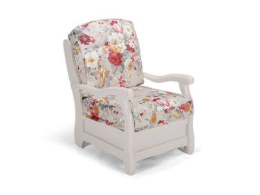 Róma szürke virágos fotel