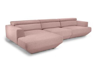 Rubine rózsaszín elektromos relax sarokkanapé