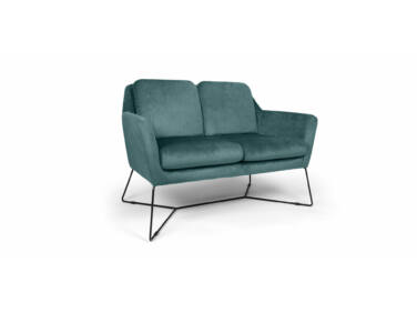 Stephan türkiz kanapé fém lábbal