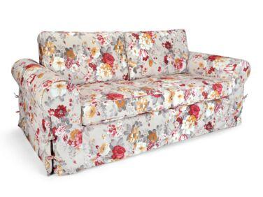 Sydney 3 személyes kanapé piros virágos