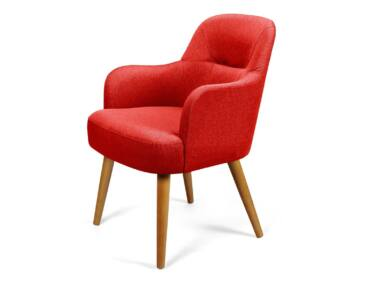 Toledo piros karfás szék