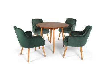 Toledo karfás szék, sötétzöld