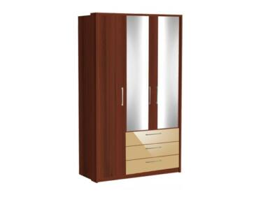Zeppelin 3 ajtós, fiókos szekrény két kis tükörajtóval, cappuccino fiókokkal