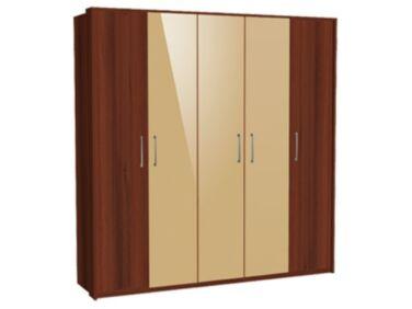 Zeppelin 5 ajtós szekrény 2 csokoládébarna és 3 cappuccino ajtóval