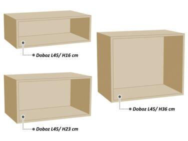 Kiegészítő doboz a kicsi Zeppelin komód rátételemre (L45/H16)