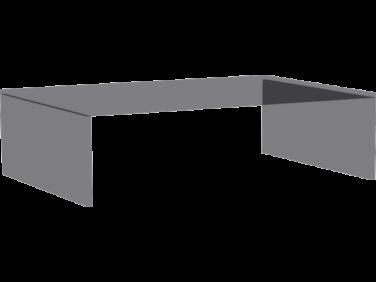 Kiegészítő üvegrátét Zeppelin éjjeliszekrényre