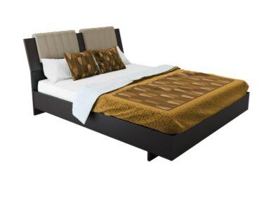 Box ágy matractartóval wenge színben 160x200