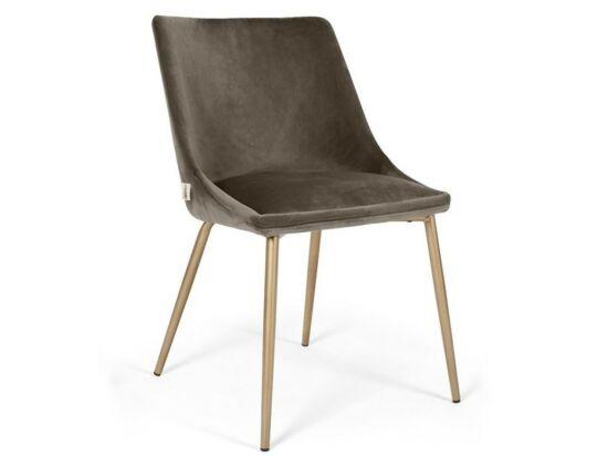 Alberta szék csokoládébarna színben, fém lábbal