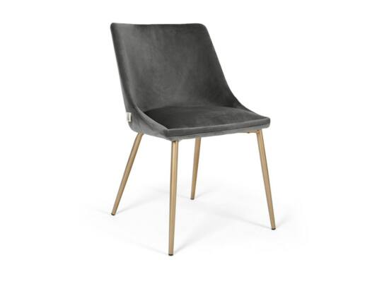 Alberta szék szürke színben, fém lábbal