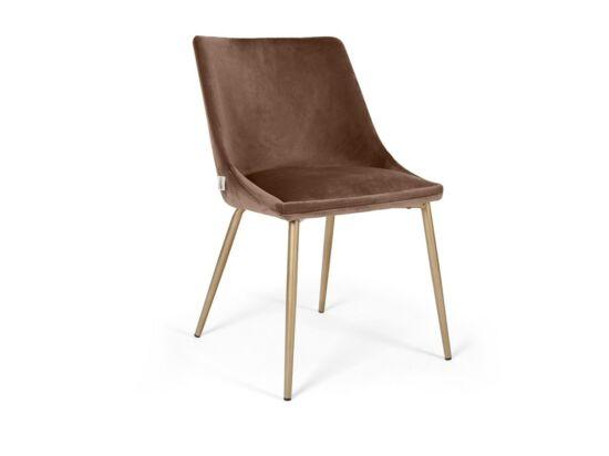 Alberta szék világosbarna színben, fém lábbal