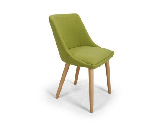 Alberta zöld szék Tölgy pácolt lábbal