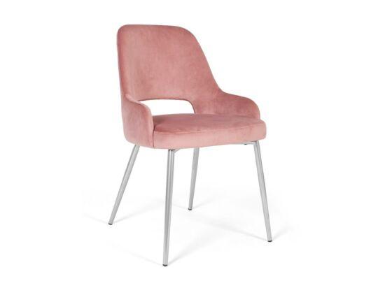 Clark rózsaszín szék, fém lábakkal
