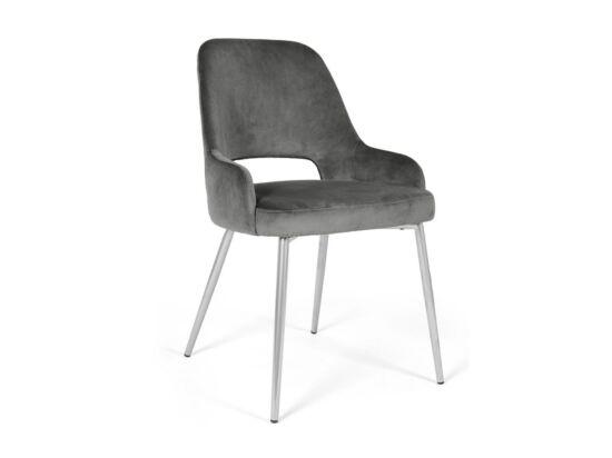 Clark szürke szék, fém lábakkal