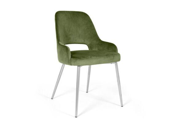 Clark zöld szék, fém lábakkal