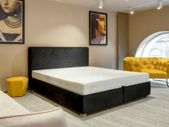 Cubo ágyneműtartós ágy sötétszürke, steppelt 160x200