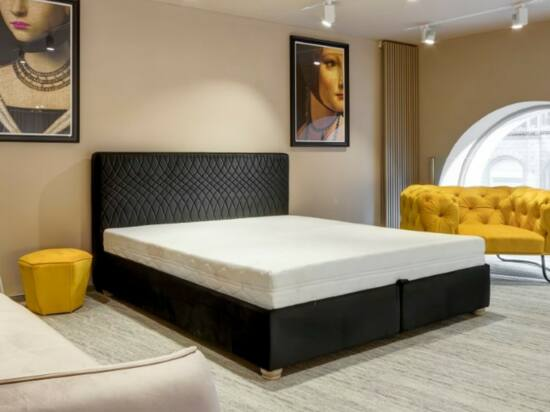 Cubo ágyneműtartós ágy sötétszürke, steppelt 140x200