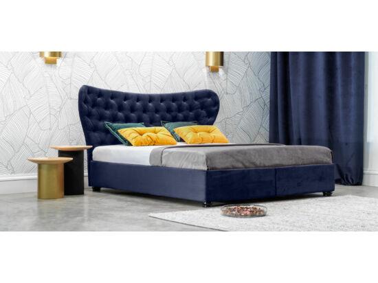 Damasc Chester ágyneműtartós ágy kék 160x200