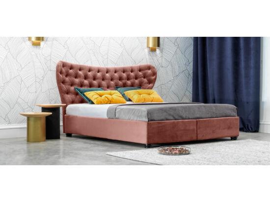 Damasc Chester ágyneműtartós ágy púder 180x200
