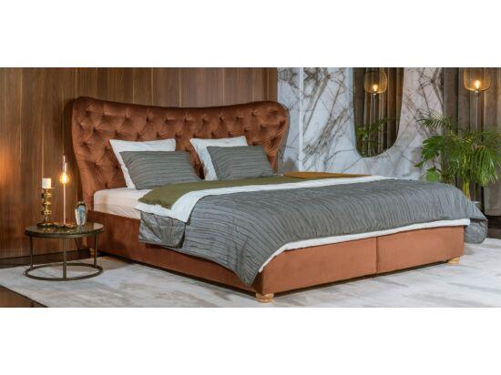 Damasc Chester ágyneműtartós ágy világosbarna 160x200