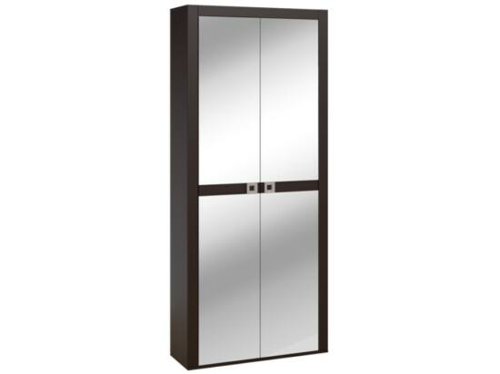 Domino két tükörajtós előszoba szekrény polcos