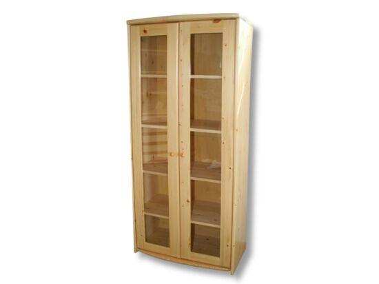 2 ajtós, vitrines borovi fenyő szekrény LZ-46