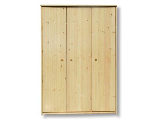 3 ajtós, borovi fenyő nagyszekrény LZ-49