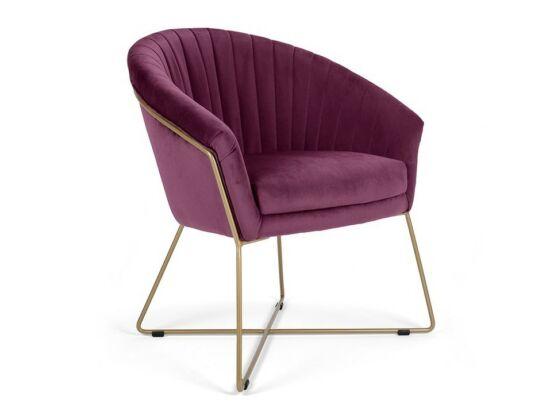 Felice burgundi szék fém lábbal