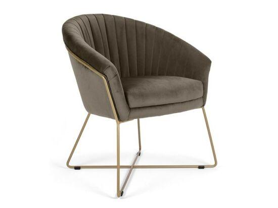 Felice szürkésbarna szék fém lábbal