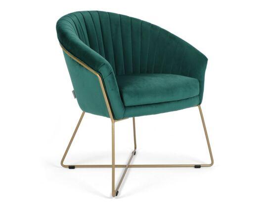 Felice türkiz szék fém lábbal