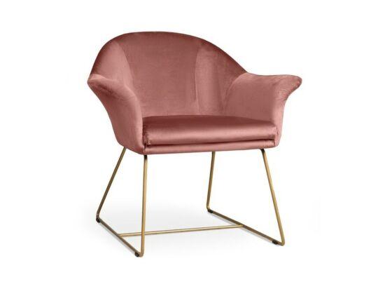 Form rózsaszín fotel