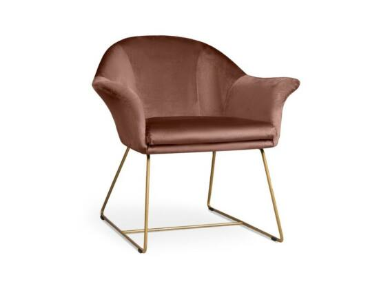 Form világosbarna fotel