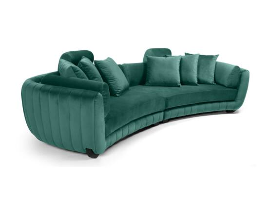 MobilaDalin Havana ötszemélyes kanapé, steppelt, türkiz