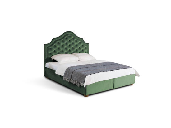 King Chester kárpitozott ágy 160x200, zöld