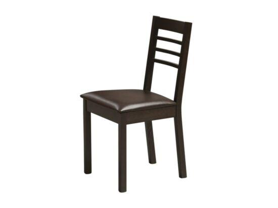 ANGELA textilbőr szék wenge színben (2 darabos csomagban rendelhető)