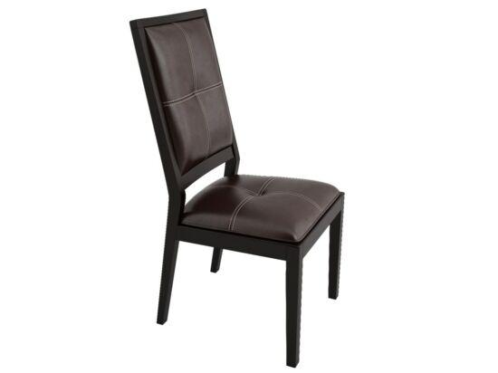 California Classic sötétbarna textilbőr szék (2 darabos csomagban rendelhető)
