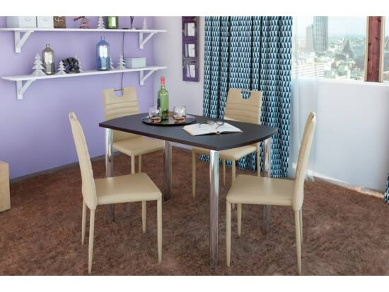 COLIBRI asztal + 4 krém COLIBRI szék összeállítás