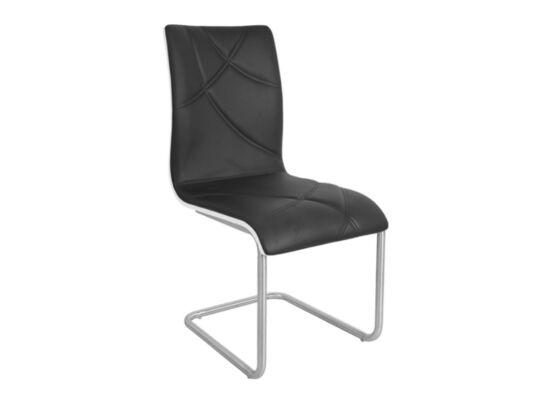 DECO fekete textilbőr szék (2 darabos csomagban rendelhető)
