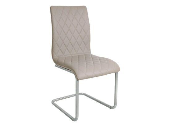 INES cappuccino textilbőr szék(2 darabos csomagban rendelhető).
