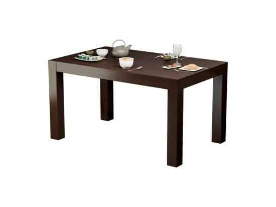 LEGANO 8 személyes nyitható asztal csokoládébarna színben