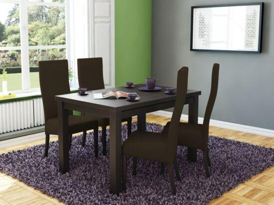 MIRACCO 8 személyes nyitható asztal és 4db ERGO barna szék összeállítás