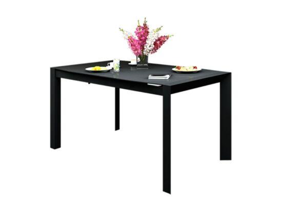 NEW YORK 8 személyes nyitható kicsi asztal fekete színben