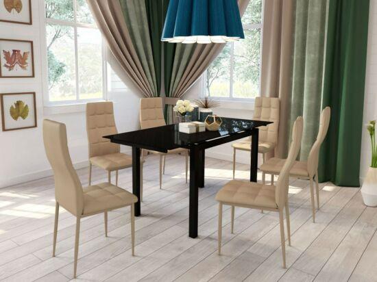 Star cappuccino textilbőr szék (2 darabos csomagban rendelhető)