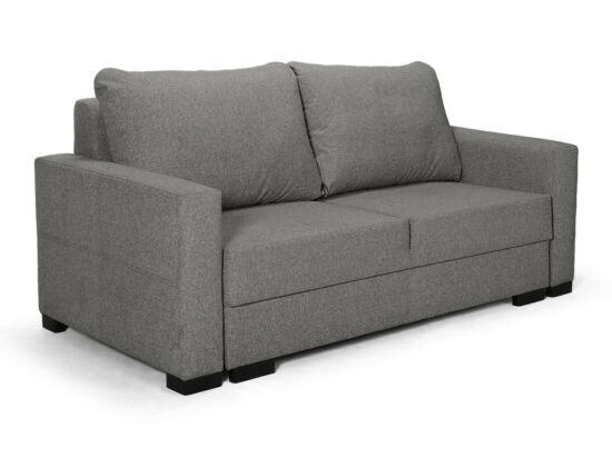 Luna kétszemélyes fix kanapé sötétszürke