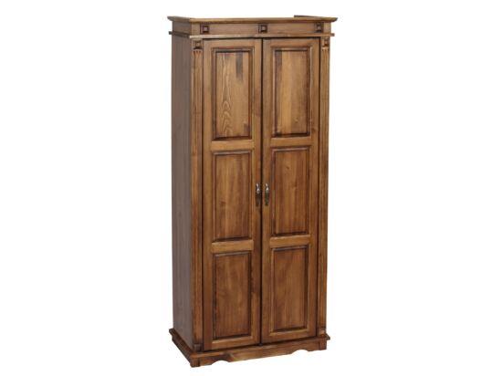 2 ajtós, válaszfalas fenyő szekrény akasztós-polcos MS-108