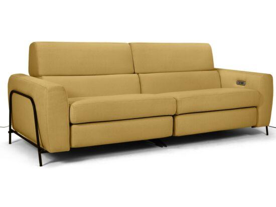 Mossa 2 személyes elektromos relax kanapé mustársárga