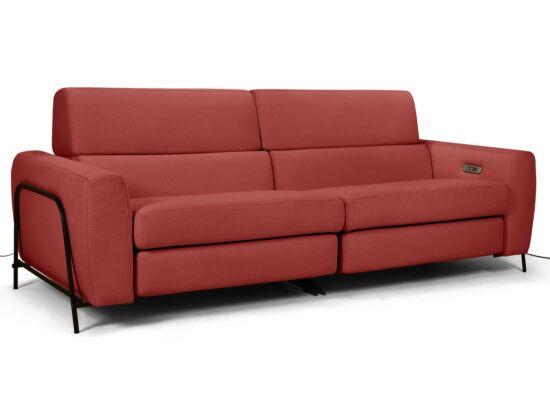 Mossa 2 személyes elektromos relax kanapé piros