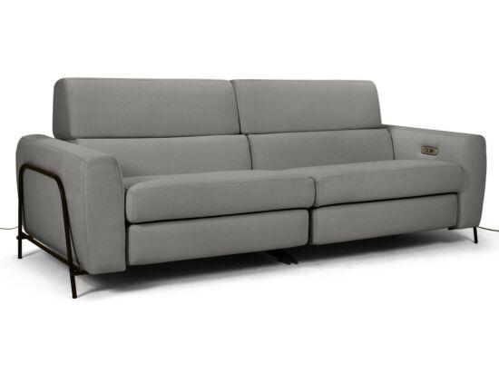 Mossa 2 személyes elektromos relax kanapé szürke