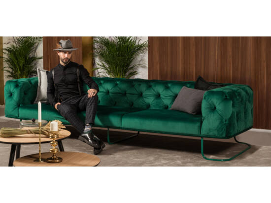 New Chester kanapé smaragdzöld