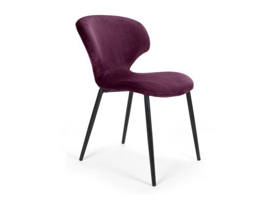 Nord lila szék, fekete fém lábbal