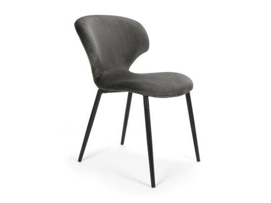 Nord szék sötétszürke, fekete fém lábbal